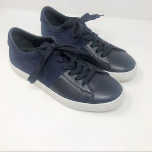 Tod's Navy Suede & Leather Sneakers 9.5